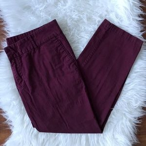 Kut From the Kloth Burgundy Cropped Pants Size 10